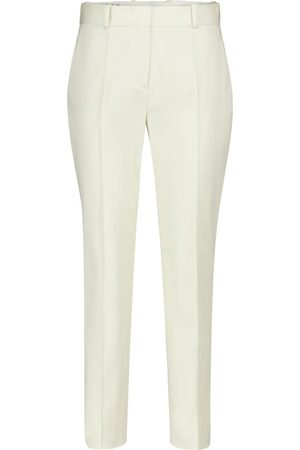 Loro Piana Derk high-rise tapered stretch-cotton pants