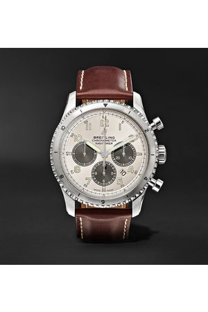 Breitling Navitimer 8 B01 Automatic Chronograph 43mm Stainless Steel and Leather Watch, Ref. No. AB01171A1G1X1