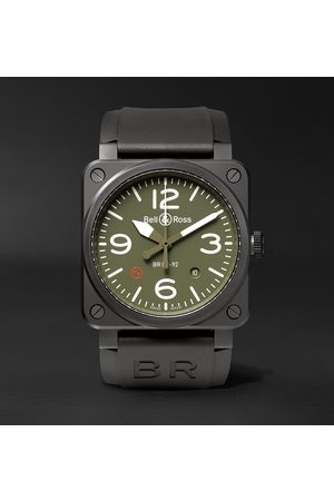 Bell & Ross Military Type Automatic 42mm Ceramic and Rubber Watch, Ref. No. BR0392‐MIL-CE