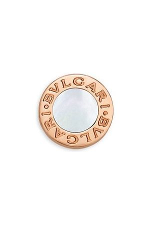 Bvlgari Classic 18K Rose & Mother-Of-Pearl Round Single Stud Earring