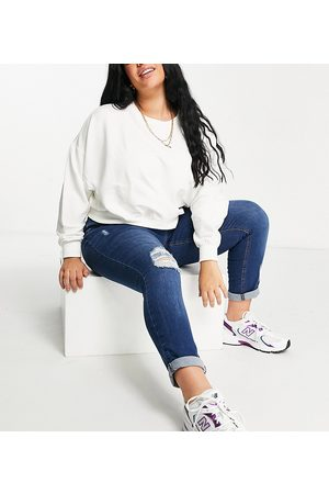 Yours Ripped Mom jeans in bright wash