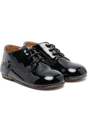 BabyWalker Lace-up patent leather brogues