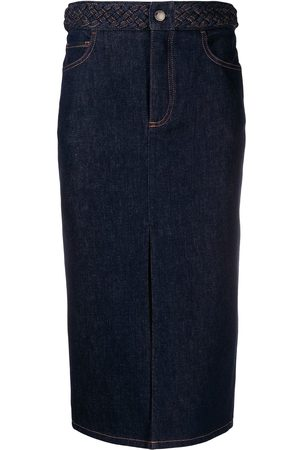 Chloé Denim midi skirt