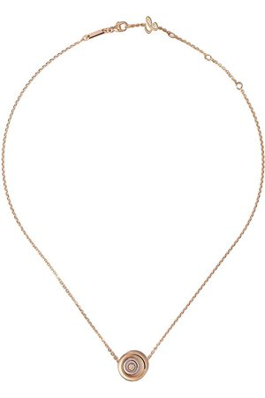 Chopard 18kt rose and white gold diamond Happy Spirit pendant necklace