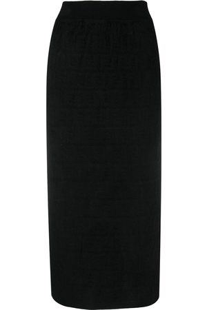 Fendi FF-print pencil skirt