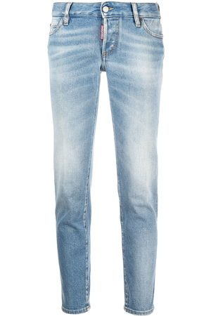 Dsquared2 Women Straight - Faded straight-leg jeans