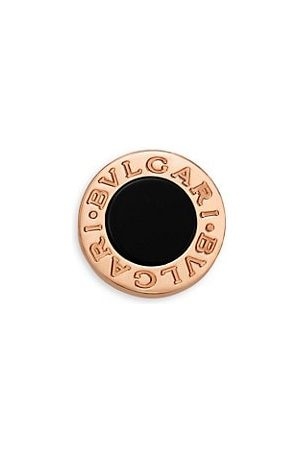 Bvlgari Classic 18K Rose & Onyx Single Round Stud Earring