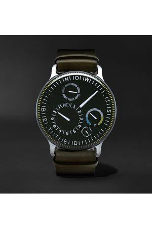 Ressence Men Watches - Type 3X Limited Edition Automatic 44mm Titanium and Leather Watch