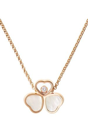Chopard Necklaces - Happy Hearts 18K Rose , Diamond & Mother-Of-Pearl 3-Heart Pendant Necklace