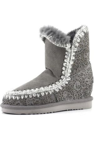 Mou Women Heeled Boots - Inner Wedge Short Lasered Boot
