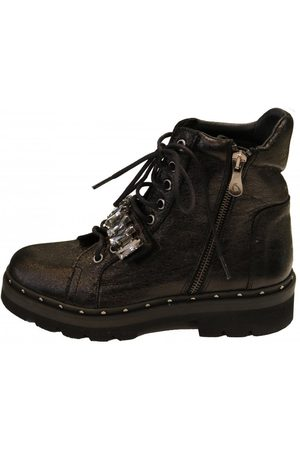 Kanna Women Lace-up Boots - Womens K2086 Lace up Biker Boot in