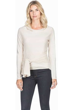 Lilla P Women Long Sleeve - Origami Long Sleeve Wrap - Canvas