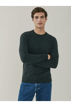 Mr Q Men Tops - Canyon Cashmere Crew Neck Sweater - Charcoal