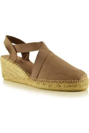 Toni Pons Ter Linen Espadrille Wedge in Taupe