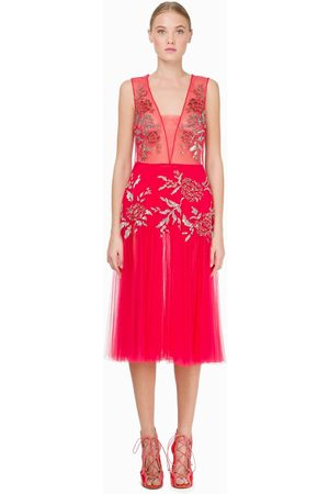 Elisabetta Franchi AB75292E2 Tulle Dress in