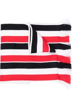 Thom Browne RWB stripe wool scarf