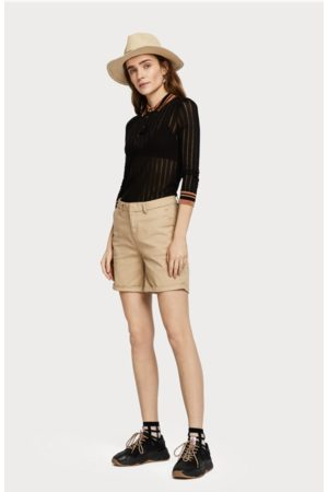 Scotch&Soda Women Chinos - Longer Length Chino Short in Sand