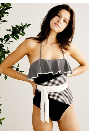 Marysia Women Swimming Costumes - Greenport Swimsuit Multi Smores Gingham