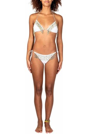 Os ree PEARL-EMBELLISHED TWO-PIECE SWIMSUIT