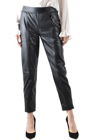 Moschino Women Leather Pants - Leather Trousers in