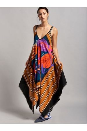 Beatrice B Special Occasion Sleeveless Scarf Dress