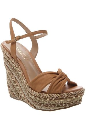 Arezzo Women Wedges - Tan Suede Braided Wedges