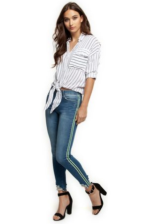 Dex Clothing Dex jeans with kelly stripes