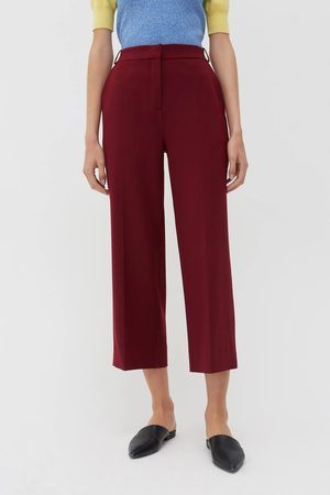 Chinti And Parker Chinti & Parker Wool Twill Cropped Trousers - Berry