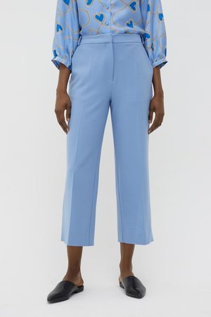 Chinti And Parker Chinti & Parker Wool Twill Cropped Trousers - Sky