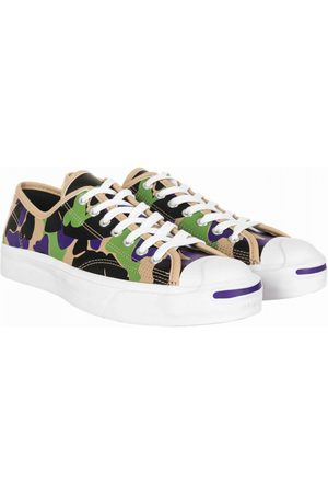 Converse Men Sneakers - Jack Purcell Leather Ox Trainers - Camo (Black/Candied Ginger