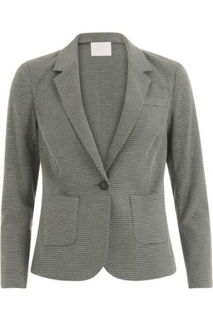 Coster Copenhagen Suit Jacket with Stretch Jacquard - Sea Grass Jacquard