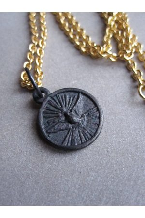WINDOW DRESSING THE SOUL WDTS Dove of Peace necklace - Oxidised pendant