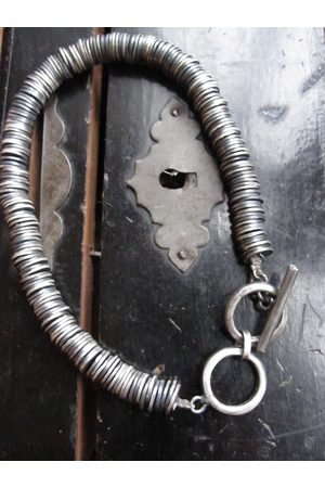 WINDOW DRESSING THE SOUL WDTS Oxidised 925 disc T-bar bracelet