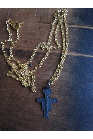 WINDOW DRESSING THE SOUL WDTS Oxidised cross with Jesus