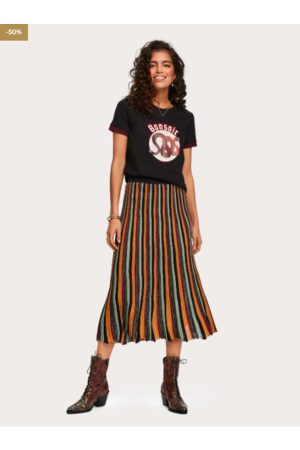Scotch&Soda Women Pleated Skirts - Pleated Lurex Skirt