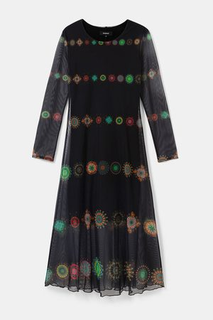 Desigual Kingston Double Layer Tulle Dress - Marino
