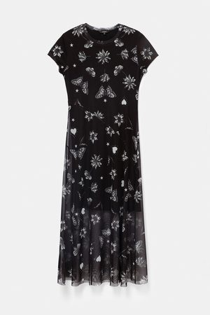 Desigual Austin Double Layer Tulle Dress