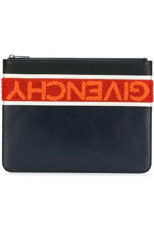 Givenchy Terry-Flock Logo Clutch Bag BAGS > Clutch Woman
