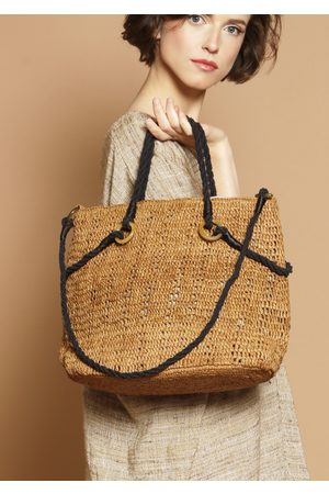 MARAINA LONDON Marianne raffia beach bag (large)