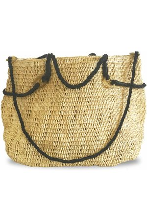 MARAINA LONDON Marianne raffia beach bag (large)- Natural