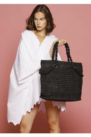 MARAINA LONDON TARAY large raffia beach bag