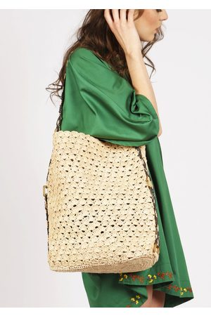 MARAINA LONDON Women Tote Bags - ISABEL raffia beach Tote Bag - Natural