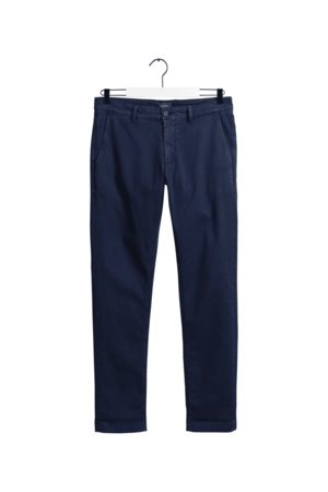GANT Men Chinos - Marine Slim Light Canvas Chino
