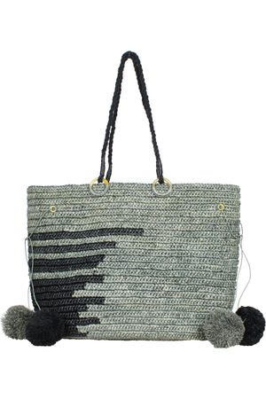 MARAINA LONDON EMMANUEL large raffia beach tote bag in