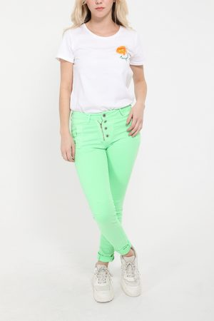 Melly & Co BUTTON/ZIP JEANS NEON