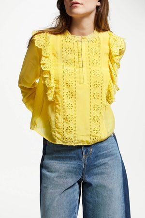Scotch&Soda Women Blouses - Embroidered Frill Blouse