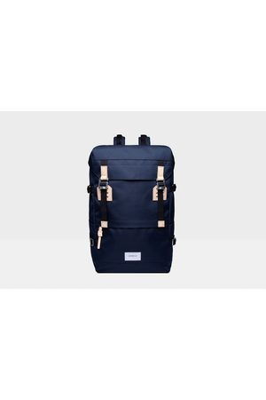 Sandqvist Harald Bag - Navy with Natural Leather