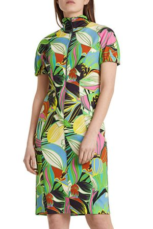 Marc Cain Women Printed Dresses - Dress with Tropical Print