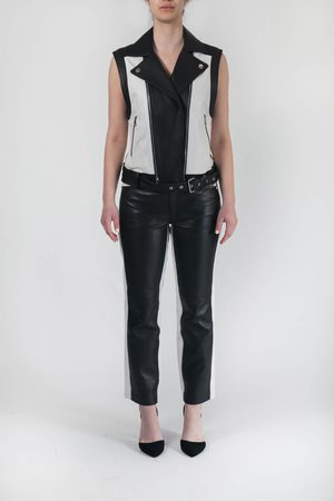 Karl Lagerfeld Women Gilets - Leather Gilet
