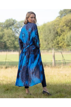 From My Mother's Garden Women Bathrobes - BLOWN WISHES LONG ROBE